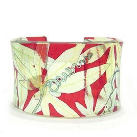 SGB-9 Red and Yellow Passionflower Cuff