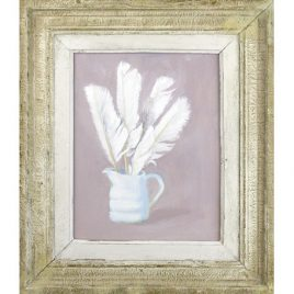 C2836 Goose Feather in a White Jug