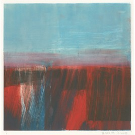 C3120 Red and Blue Landscape