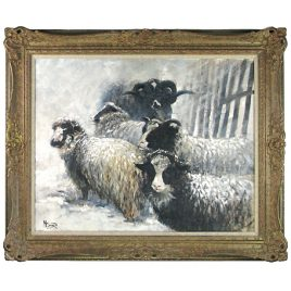 C2224 Winter Sheep