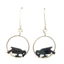 BCE-66 Crow Drop Earrings – Becky Crow