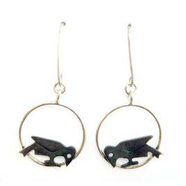 BCE-66 Crow Drop Earrings