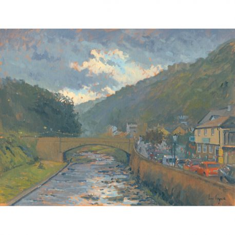 29 Looking up River, evening, Lynmouth – Copy
