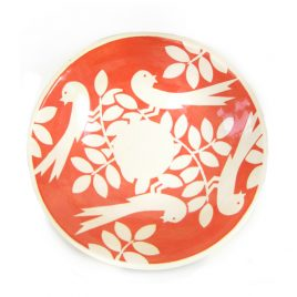 PKX3102 Red Birds Large Shallow Bowl