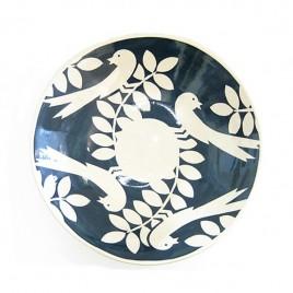 MHX2661 Blue Bird Design Shallow Bowl