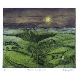 C2566 Moonrise over Exmoor
