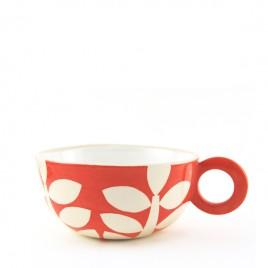 PKX3183 Red Leaves Teacup