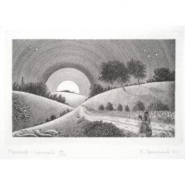 C3830 Moonrise – Cornwall (7th State, I/III)