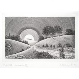 C3830 Moonrise – Cornwall (7th State, I/III) – Brian Hanscomb