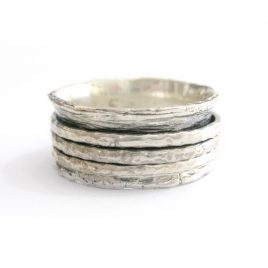 YMR-22 Silver Ring with 3 Spinning Rings (Q)