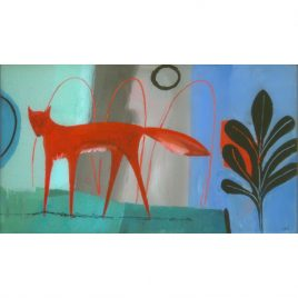 C4070 Red Fox with Green Land