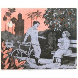 C1535 Evening in the Orange Garden