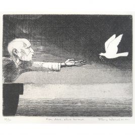 C4087 Man, Dove, Olive Branch – Frans Wesselman