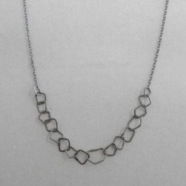 BJN-5 Oxidised Silver Link Necklace
