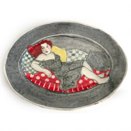 X3848 Large Oval Plate