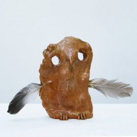 19. Untitled (Small Owl With Feathers)