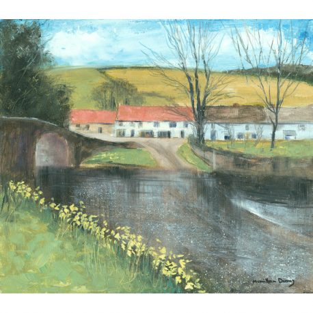 C4499 Daffodils at Malmsmead 32x28cm – Copy