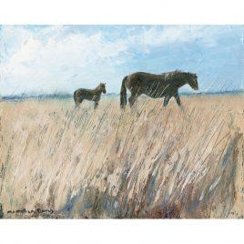 C4503 Mare and Foal, Landacre – Caroline McMillan Davey