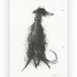 C4697 Sitting Lurcher 2/12 – Sally Muir