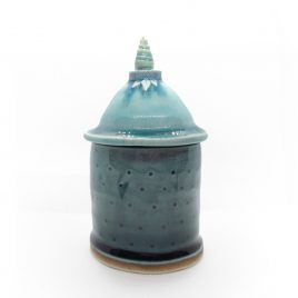 C4787 Medium Lidded Pot – Sarah Heywood