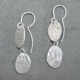 ELE-145 Double Textured Drop Earrings