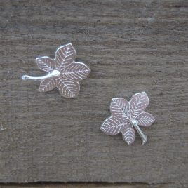 ACE-92, ACE-93 Horse Chestnut Leaf Stud Earrings – Amanda Coleman