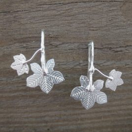 ACE-89 Sycamore and Horse Chestnut Leaf earrings