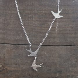 ACN-56 Necklace with Three Swallows – Amanda Coleman