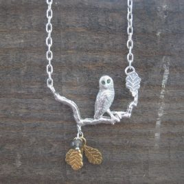 ACN-54 Owl on a Branch Necklace – Amanda Coleman
