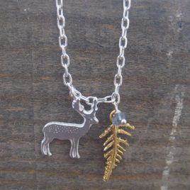 ACN-71 Stag and Fern Pendant