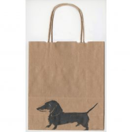 C4708 Dachshund on Bag – Sally Muir