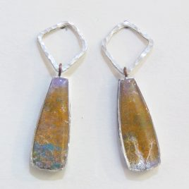 DBE-30 Small Drop Earrings with Hammered Silver Ring – Dee Barnes