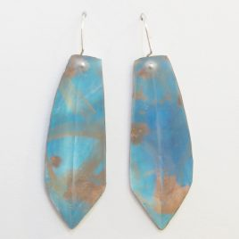 DBE-41 Frosted Faceted Resin Drop Earrings