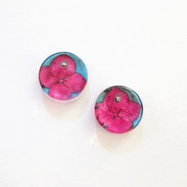 SGE-23 Pink and Blue Tiny Hydrangea Studs