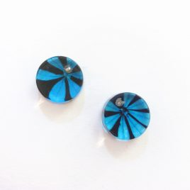 SGE-26 Turquoise and Black Studs