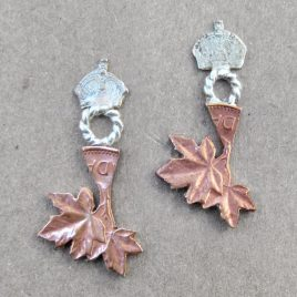 RE-21 Maple Leaf and Crown Studs
