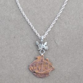 RE-24 Ship and Oaks Necklace