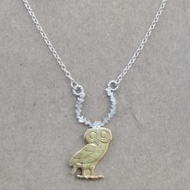 RE-27 Owl and Wreath Necklace