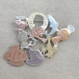 RE-1 Collage Brooch