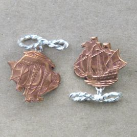 RE-10 Ship Cufflinks – Rachel Eardley