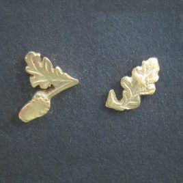 RE-16 Tiny Gold Acorn and Leaf Studs – Rachel Eardley