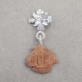 RE-2 Ship and British Isles Brooch