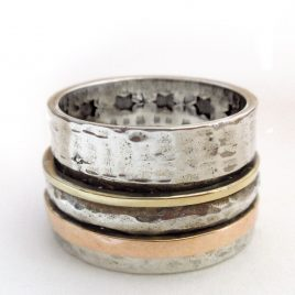 YMR-59 Star Cut Out Spinning Ring (Size P) – Yaron Morhaim