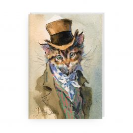 'A Flourish of Whiskers' by Jonathan Walker Greetings Card