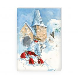 'Christmas Morning Porlock' by Jonathan Walker Greetings Card