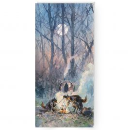 'Cold Moon' by Jonathan Walker Greetings Card