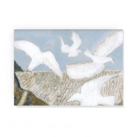 'Hurlstone Point Seagulls' by Ann Farley Greetings Card
