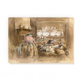 'Sett Supper' by Jonathan Walker Greetings Card