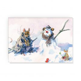 'Snow Mice' by Jonathan Walker Greetings Card