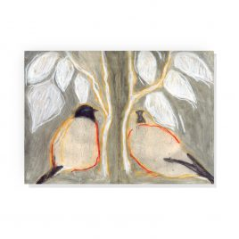'Two Bullfinches' by Ann Farley Greetings Card